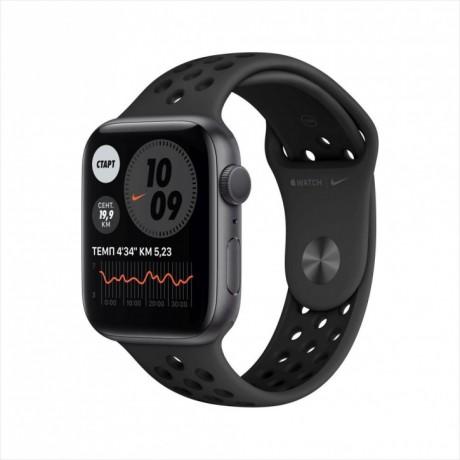 Смарт-часы Apple Watch Nike Series 6, 44 мм, корпус из алюминия цвета «серый космос», спортивный ремешок Nike