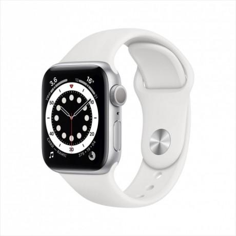 Смарт-часы Apple Watch Series 6, 40 мм, корпус из алюминия серебристого цвета, спортивный ремешок