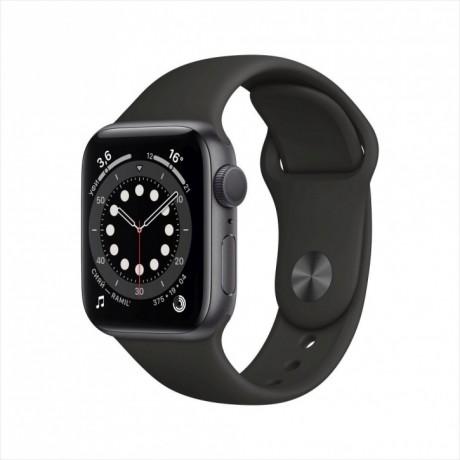 Смарт-часы Apple Watch Series 6, 40 мм, корпус из алюминия цвета «серый космос», спортивный ремешок