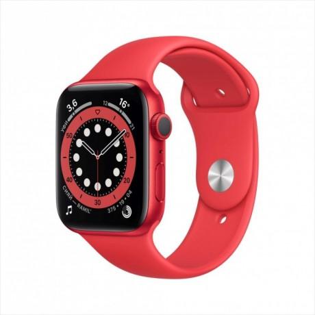 Смарт-часы Apple Watch Series 6, 44 мм, корпус из алюминия цвета (PRODUCT)RED, спортивный ремешок