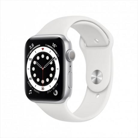 Смарт-часы Apple Watch Series 6, 44 мм, корпус из алюминия серебристого цвета, спортивный ремешок
