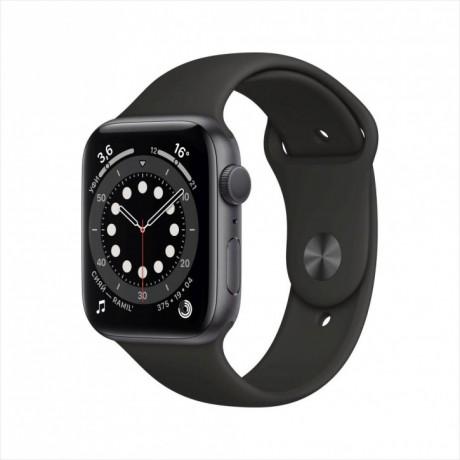 Смарт-часы Apple Watch Series 6, 44 мм, корпус из алюминия цвета «серый космос», спортивный ремешок M00H3RU/A