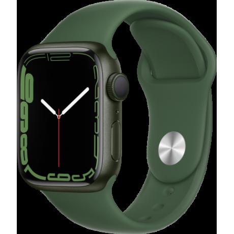 Смарт-часы Apple Watch Series 7 41 мм корпус из алюминия зеленого цвета спортивный ремешок