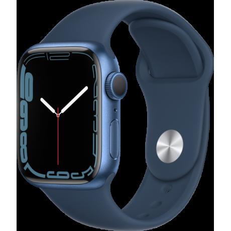 Смарт-часы Apple Watch Series 7 41 мм корпус из алюминия синего цвета спортивный ремешок