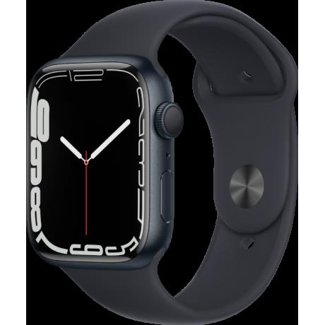 Смарт-часы Apple Watch Series 7 41 мм корпус из алюминия цвета темная ночь спортивный ремешок