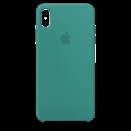 Силиконовый чехол для Apple iPhone XS Silicone Case Simple (зеленый)