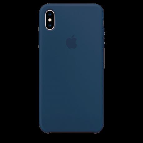 Силиконовый чехол для Apple iPhone X Silicone Case (синий кобальт)