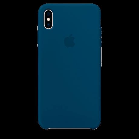 Силиконовый чехол для Apple iPhone X Silicone Case (космически синий)