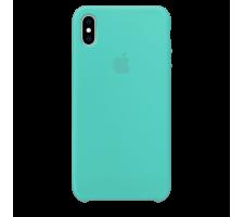 Силиконовый чехол для Apple iPhone X Silicone Case (морской зеленый)