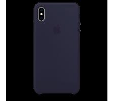 Силиконовый чехол для Apple iPhone X Silicone Case (темно-синий)