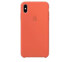 Силиконовый чехол для Apple iPhone X Silicone Case (оранжевый)