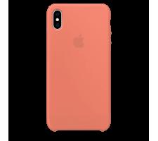 Силиконовый чехол для Apple iPhone X Silicone Case (персиковый)