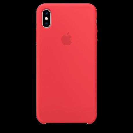 Силиконовый чехол для Apple iPhone X Silicone Case (красная малина)