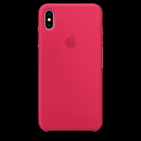 Силиконовый чехол для Apple iPhone X Silicone Case (розово-красный)