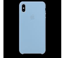 Силиконовый чехол для Apple iPhone X Silicone Case (голубой)