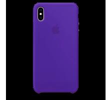 Силиконовый чехол для Apple iPhone X Silicone Case (ультрафиолетовый)