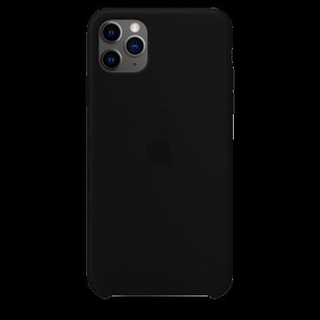 Силиконовый чехол для Apple iPhone 11 Pro Max Silicone Case (черный)
