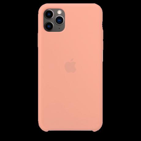 Силиконовый чехол для Apple iPhone 11 Pro Max Silicone Case (грейпфрут)