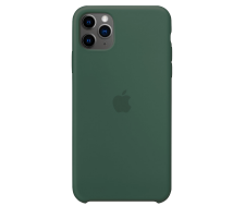 Силиконовый чехол для Apple iPhone 11 Pro Max Silicone Case (зеленая сосна)