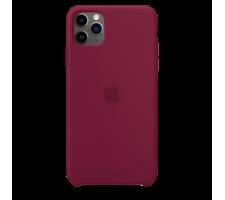 Силиконовый чехол для Apple iPhone 11 Pro Max Silicone Case (гранатовый)