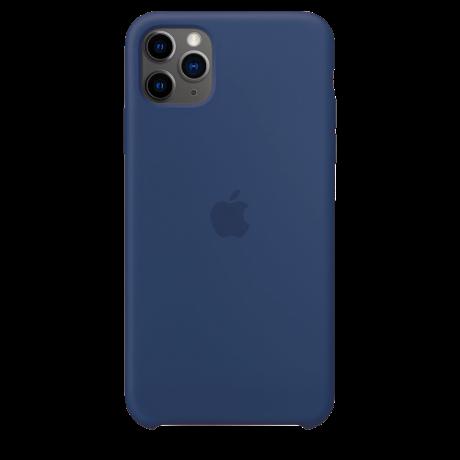 Силиконовый чехол для Apple iPhone 11 Pro Silicone Case (льняной синий)