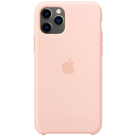 Силиконовый чехол для Apple iPhone 11 Pro Silicone Case (розовый песок)