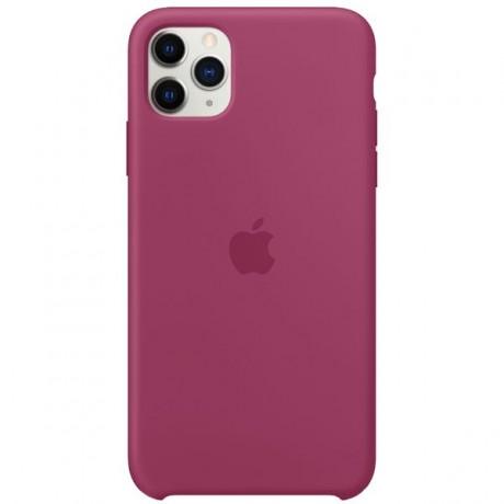 Силиконовый чехол для Apple iPhone 11 Pro Silicone Case (гранатовый)