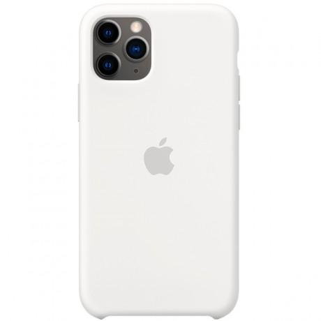 Силиконовый чехол для Apple iPhone 11 Pro Silicone Case (белый)