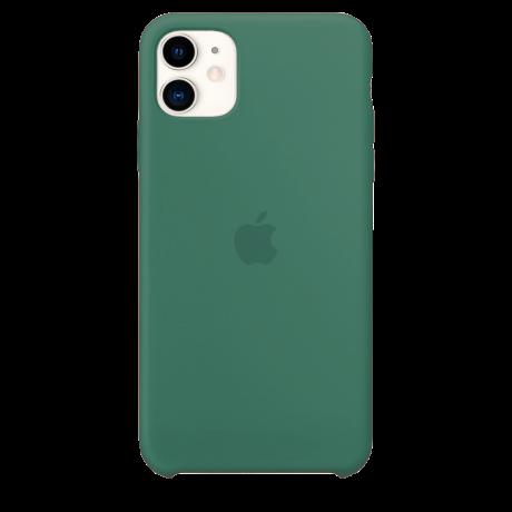 Силиконовый чехол для Apple iPhone 11 Silicone Case (темно-зеленый)