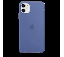 Силиконовый чехол для Apple iPhone 11 Silicone Case (льняной синий)