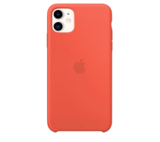 Силиконовый чехол для Apple iPhone 11 Silicone Case (оранжевый)