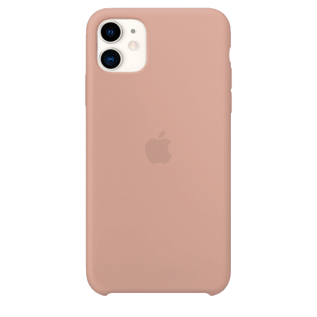 Силиконовый чехол для Apple iPhone 11 Silicone Case (розовый песок)