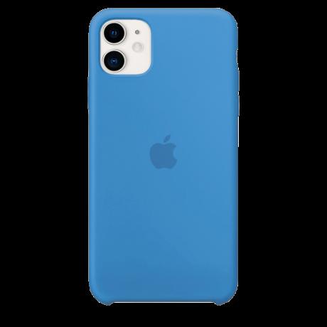 Силиконовый чехол для Apple iPhone 11 Silicone Case (синий прибой)