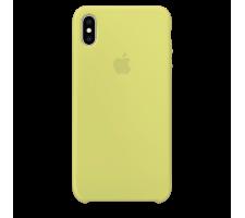 Силиконовый чехол для Apple iPhone X/XS Silicone Case Simple (сочный желтый)