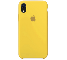 Силиконовый чехол для Apple iPhone XR Silicone Case (канареечно-желтый)