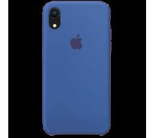 Силиконовый чехол для Apple iPhone XR Silicone Case (мягкий синий)
