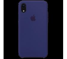 Силиконовый чехол для Apple iPhone XR Silicone Case (темно-синий)