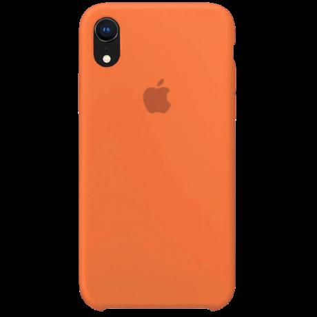 Силиконовый чехол для Apple iPhone XR Silicone Case (папайя)