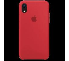 Силиконовый чехол для Apple iPhone XR Silicone Case (красный)