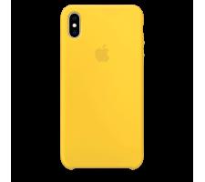 Силиконовый чехол для Apple iPhone XS Max Silicone Case (канареечно-желтый)