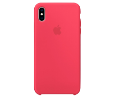 Силиконовый чехол для Apple iPhone XS Max Silicone Case (гибискус)
