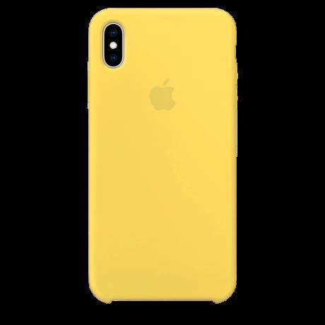Силиконовый чехол для Apple iPhone XS Max Silicone Case (сочный желтый)