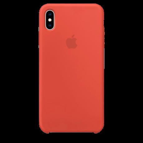 Силиконовый чехол для Apple iPhone XS Max Silicone Case (нектарин)