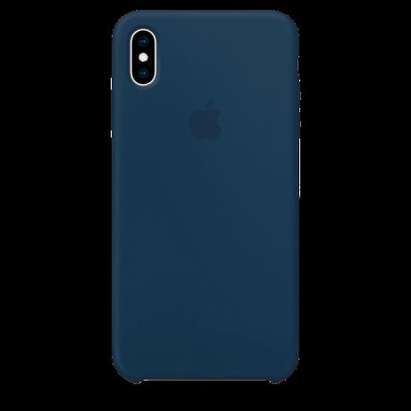Силиконовый чехол для Apple iPhone XS Max Silicone Case (мягкий зеленый)