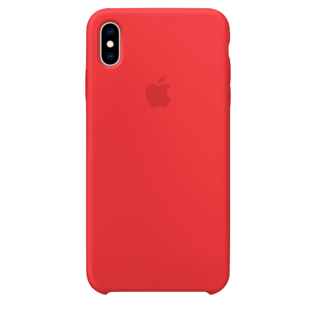 Силиконовый чехол для Apple iPhone XS Max Silicone Case (красный)