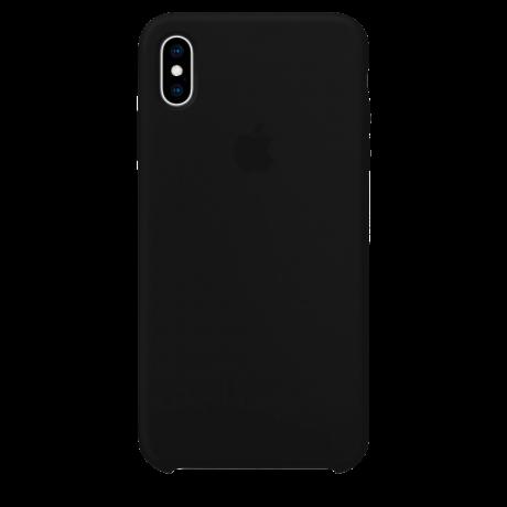 Силиконовый чехол для Apple iPhone XS Silicone Case (черный)