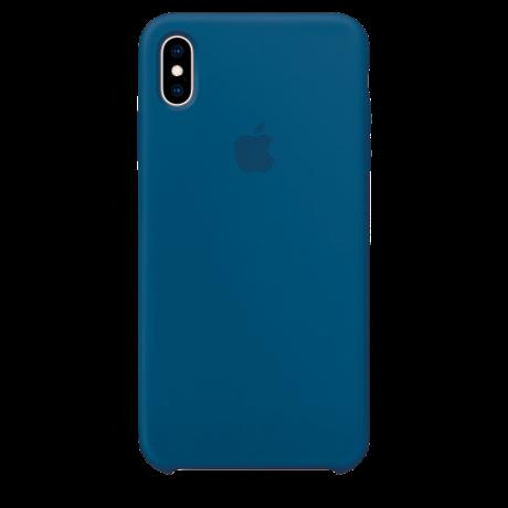 Силиконовый чехол для Apple iPhone XS Silicone Case (голубой горизонт)