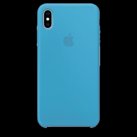Силиконовый чехол для Apple iPhone XS Silicone Case (васильковый)