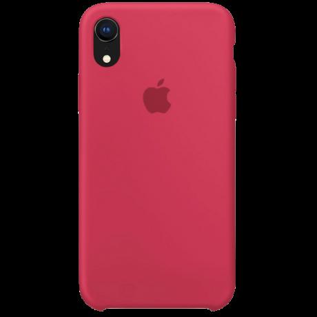 Силиконовый чехол для Apple iPhone XS Silicone Case (гибискус)