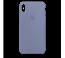 Силиконовый чехол для Apple iPhone XS Silicone Case (лавандово-серый)